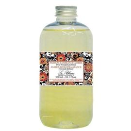 Le Blanc - Navulling & geurstokjes amber 300 ml.