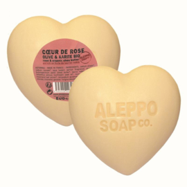 Aleppo Soap Co. - Hartzeep roos in cellofaan 200 gram.