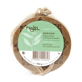 Najel - Aleppo zeep amber oud aroma aan koord 150 gram.