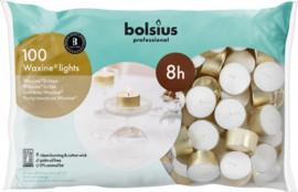 Bolsius Professional - Horeca Waxinelichten 8 uur 100 stuks.