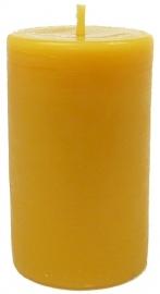 Candlewoods bijenwas kaars stomp 7 geel