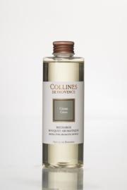 Collines de Provence navulling  geurstokjes Ceder 200 ml.