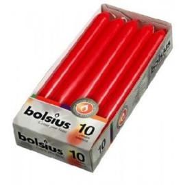 Bolsius Dinerkaars 230/20 doos 10 stuks Rood