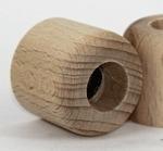 Glazen flesje (diffusser 100 ml.) afsluitplug met houten sierdop