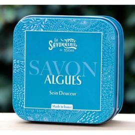 La Savonnerie de Nyons - Blikje zeep met algen 100 gram.