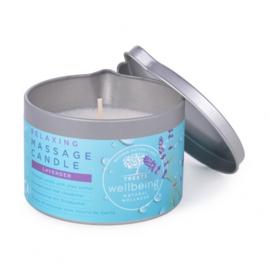 Treets - Massagekaars Relaxing (Ontspannend Lavendel)140 gram.