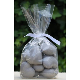 Lumière de Provence -hartzeepjes grijs (opium) 12 stuks a 25 gram.