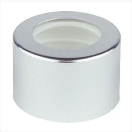 Glazen flesje (diffusser 100 ml.) afsluitplug met Silver sierdop