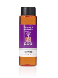 GOA Escapade à Marrakech Geurstokjes Navulling  250 ml. & geurstokjes
