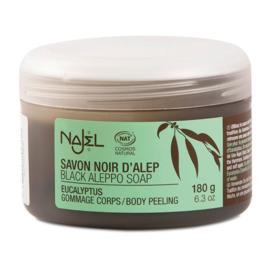 Najel - Aleppo zeep scrub zwart eucalyptus 200 gram.
