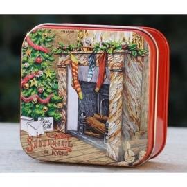La Savonnerie de Nyons - Zeep in vierkant (kerstgeur: kruidkoek) blikje  100 gram