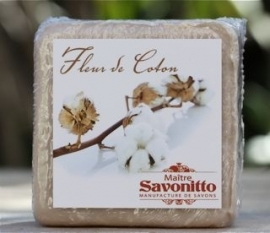 Maitre Savonitto - Blok zeep met decoratie (coton)