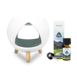 Chi- Cozy aromabrander & Davos Kuurolie 10 ml.