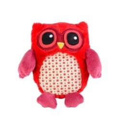 15005 Warmies warmteknuffel Mini Uil rood (magnetronknuffel)