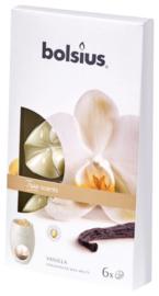 Bolsius - True Scents (waxmelts) Vanille 6  stuks