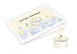 Candle card Prettige feestdagen