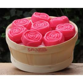 La Savonnerie de Nyons - Mandje met 23 zeepjes roosjes Kersen.