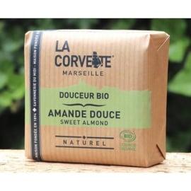 La Corvette - Biologische Marseillezeep  met Amandel 100 gram