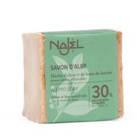 Najel - Aleppo zeep olijf olie 30% laurier 170 gram.
