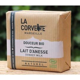 La Corvette - Biologische Marseillezeep  met Ezelinnenmelk 100 gram