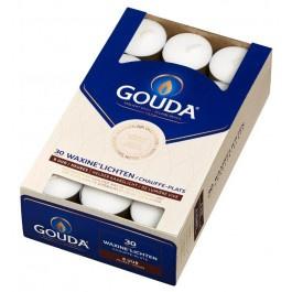 Gouda witte 8-uurs waxinelichtjes in doos 30 stuks