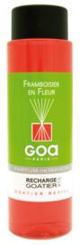 GOA Framboiser en Fleur Geurstokjes Navulling  250 ml. & Geurstokjes