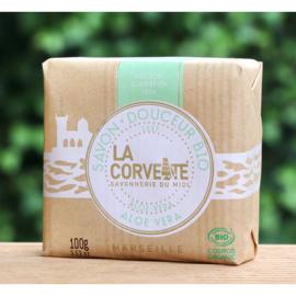 La Corvette - Biologische Marseillezeep  met Aloe Vera 100 gram