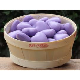 La Savonnerie de Nyons - Mandje met 50 hartzeepjes Lavendel.