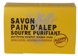 Aleppo Soap  Co - Aleppo zeep met zwavelbloem in doosje 150 gram