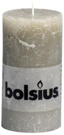 Bolsius Stomp Rustiek Kiezelgrijs 130/68