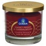 Gouda Geurglas Robijnrood / Sweet peony & sandalwood 90/100 mm