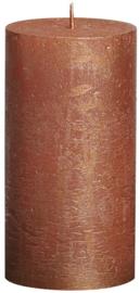 Bolsius - Stompkaars Metallic rustiekkaars 130/68 Koper