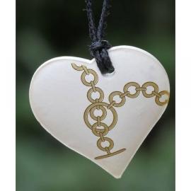 Ketting geparfumeerd in (cadeau) doosje hartje goud