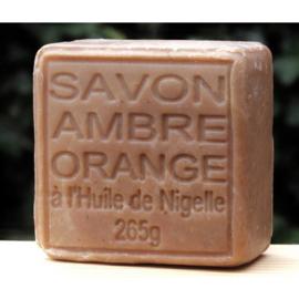 Maitre Savonitto - Blok Savon de Marseille amber met sinaasappel 265 gram.