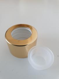 Glazen flesje (diffusser 100 ml.) afsluitplug met gouden Sierdop