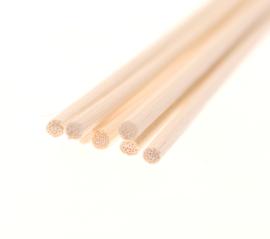 Losse stokjes dik, diameter 4 mm 25 cm lang (7 stuks)