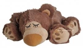 01058 Warmies warmteknuffel Sleepy Bear bruin (magnetronknuffel)