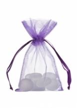 Organza zakjes XSmall Treklint paars (10 stuks)