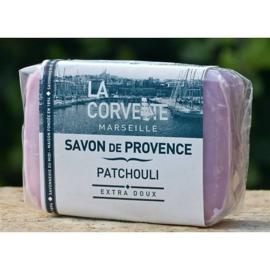 La Corvette - Savon de Marseille patchouli 100 gram.