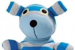 16007U Warmies warmteknuffel POP! Hond blauw/grijs (magnetronknuffel)
