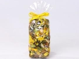 Gemengde potpourri geel 100 gram geparfumeerd