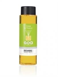 GOA  Cèdre & Vanille  Geurstokjes Navulling 250 ml. & geurstokjes