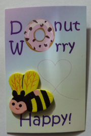 Kaartje - Donut Worry Bee Happy!
