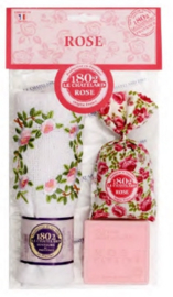 Le Chatelard 1802 - Geur cadeauset Rose (gastendoekje, geurzakje en zeepje)