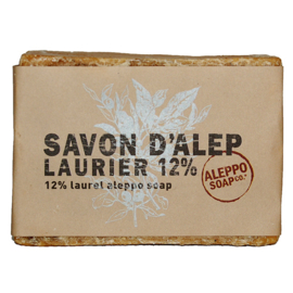 Aleppo Soap Co - Aleppo zeep 12 % Laurier 200 gram.