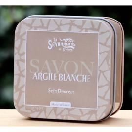 La Savonnerie de Nyons - Blikje zeep met witte klei 100 gram.