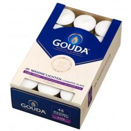 Gouda witte 6-uurs waxinelichtjes in doos 45 stuks