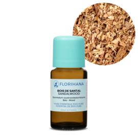 Sandelhout olie - Etherische olie Santalum austrocaledonicum, bio Florihana 5 of 15 gram.