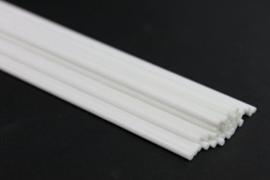 Fiber witte  losse stokjes dik 3,5 mm 25 cm lang (6 stuks)