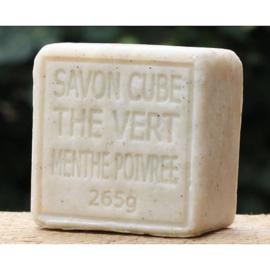 Maitre Savonitto - Blok biologische marseillezeep munt & arganaolie 265 gram
